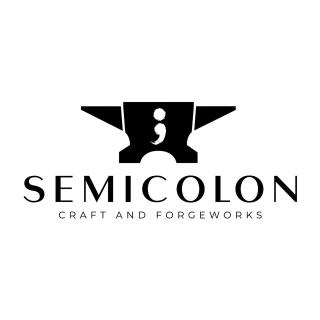 Semicolon Craft and Forgeworks Logo